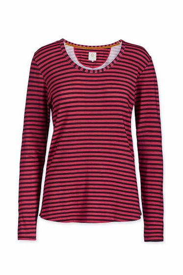 Top Long Sleeve Fushion Stripe Red