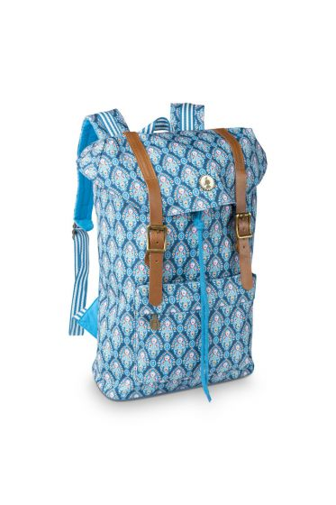 Strapped backpack Indian Festival blue