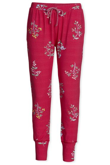 Lange Hose Winter Wonderland XL Dunkelrosa