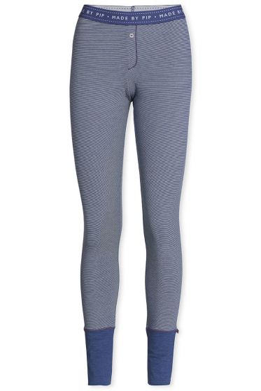 Lange legging Stripers donkerblauw