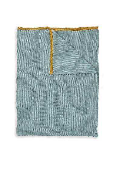 Plaids-blauw-geel-quilts-dekentje-130x170-throw-bonsoir-pip-studio-gebreid