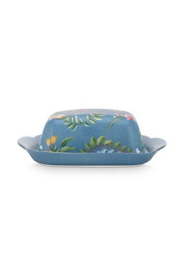 butterschale-la-majorelle-aus-porzellan-mit-blumen-in-blau