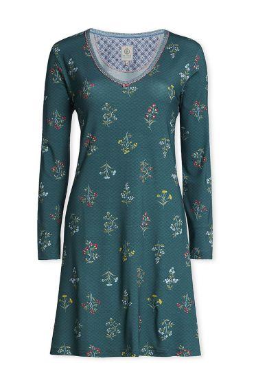 Nachthemd met lange mouwen Winter Wonderland bosgroen