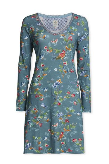 Long sleeve nightdress Birdy Green