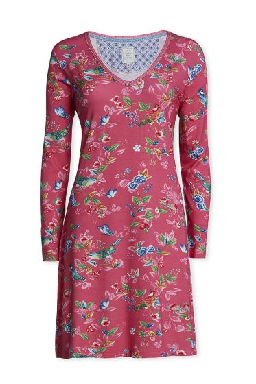 Long sleeve nightdress Birdy pink