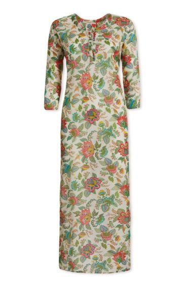 Kleid mit 3/4-Ärmeln Jambo Tropics Weiss