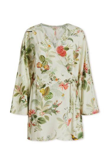 Wrap dress Floris Off White