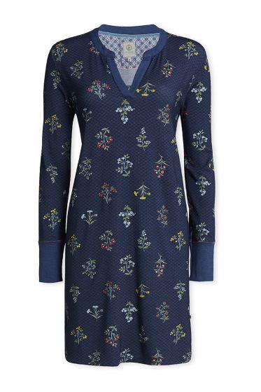 Nachthemd mit langen Ärmeln Winter Wonderland Blau
