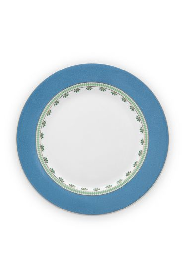 dinner-plate-la-majorelle-made-of-porcelain-with-flowers-in-blue-26,5-cm