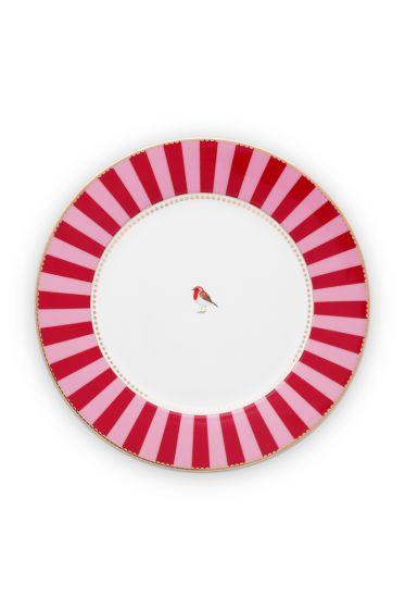 ess-teller-love-birds-in-rot-und-rosa-mit-vogel-26,5-cm