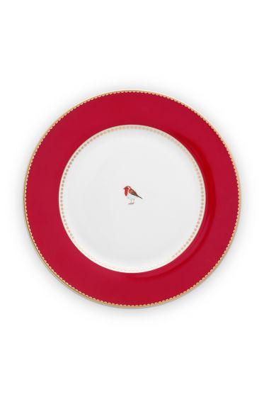 dinner-plate-love-birds-in-red-with-bird-26,5-cm