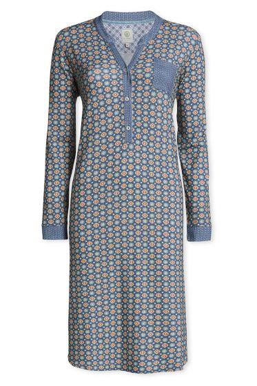 Nachthemd mit langen Ärmeln Pipster Blau