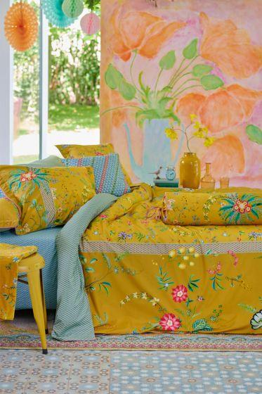 Bettbezug-petites-fleurs-gelb-blumen-pip-studio-2-persoons