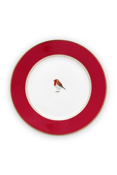 pastry-plate-love-birds-in-red-with-bird-17-cm