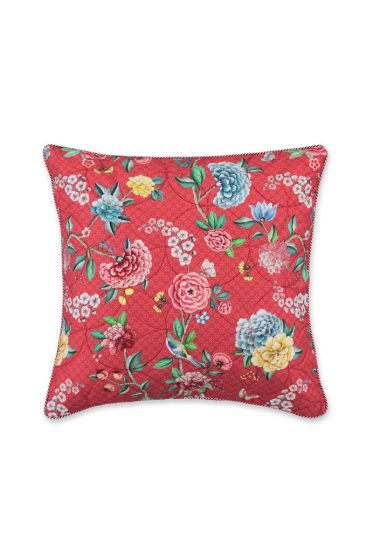 Cushion square quilted Good Night Red