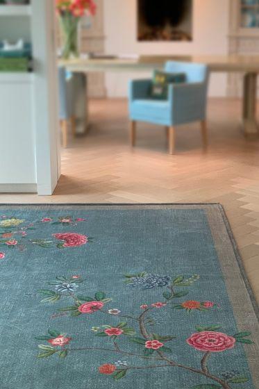 vintage-rechthoekig-good-morning-by-pip-vloerkleden-tapijten-in-licht-blauw-met-bloemen-print