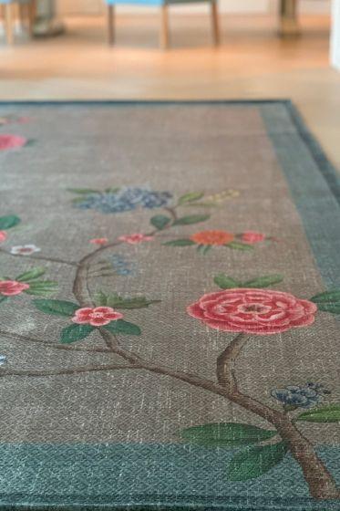 vintage-rechthoekig-good-morning-by-pip-vloerkleden-tapijten-in-khaki-blauw-met-bloemen-print
