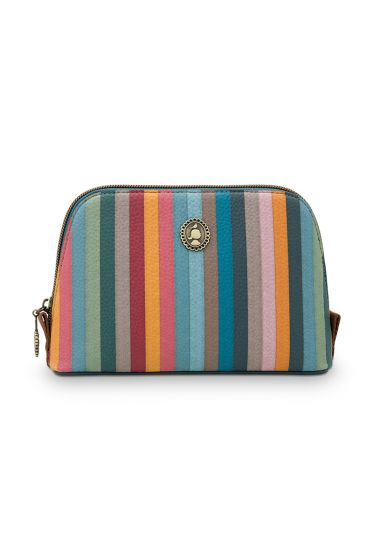 small-cosmetic-bag-floklore-stripe-with-multi-colour-stripe-design-and-zipper