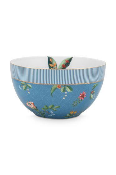 schale-la-majorelle-aus-porzellan-mit-eine-palme-und-blumen-in-blau-18-cm