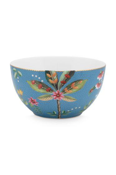 kom-la-majorelle-van-porselein-met-een-palmboom-in-blauw-15-cm