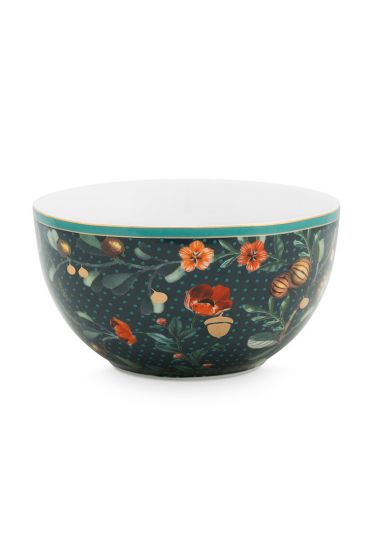 bowl-winter-wonderland-made-of-porcelain-with-flowers-in-green-12-cm