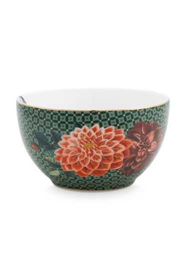 bowl-winter-wonderland-made-of-porcelain-with-a-squirrel-and-flowers-in-green-9,5-cm