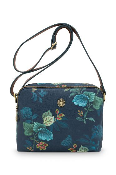 medium-schultertasche-leafy-stitch-in-blau-mit-flower-design
