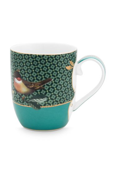 mug-small-winter-wonderland-made-of-porcelain-with-a-bird- -in-green