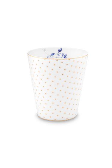mug-small-without-ear-royal-dots-white-230-ml-6/48-pip-studio-51.002.240