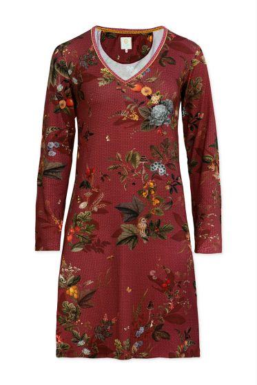 Nachthemd mit Langen Ärmeln Floris Rot