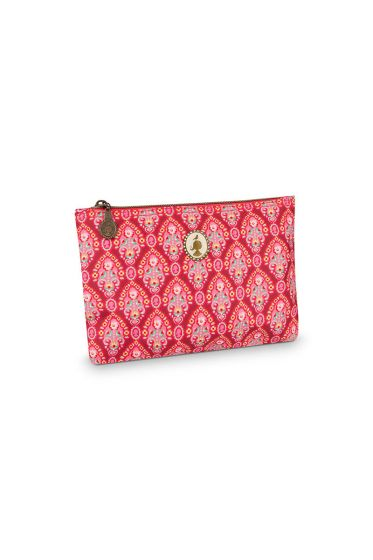 Pencil case flat Indian Festival  red
