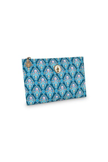 Pencil case flat Indian Festival blue
