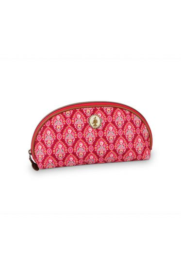 Pencil case triangle Indian Festival red