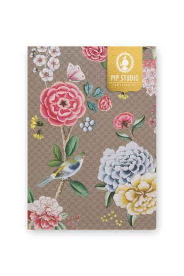 notebook-a5-blusing-birds-with-flower-print-khaki