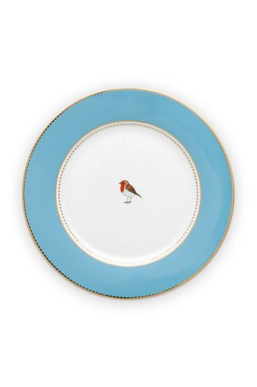 breakfast-plate-love-birds-in-blue-with-bird-21-cm