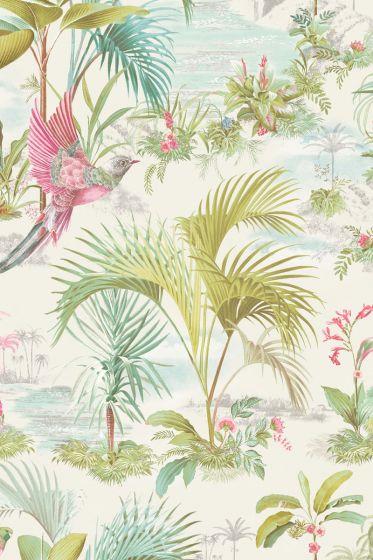 Pip Studio Palm Scene Wallpaper White