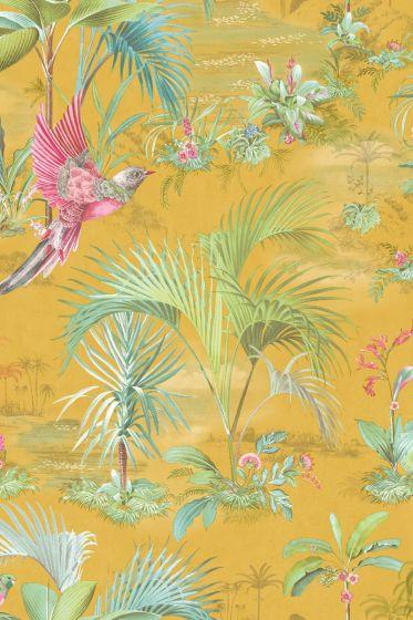 Pip Studio Palm Scene Wallpaper Yellow