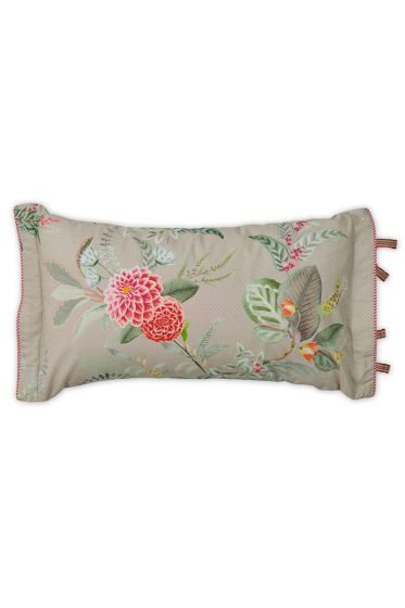 Cushion rectangle Floris Khaki