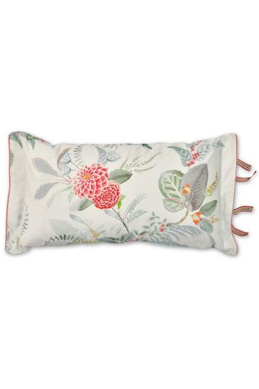 Cushion rectangle Floris White