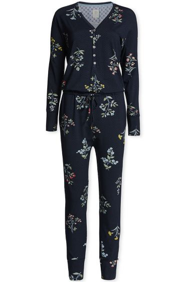 Jumpsuit Winter Wonderland XL donkerblauw