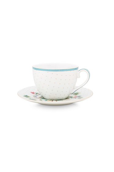 porcelain-espresso-cup-&-saucer-jolie-dots-gold-120-ml-6/48-blue-white-fs-51.004.116
