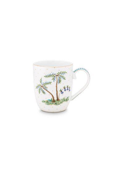 porcelein-mug-small-jolie-dota-gold-145-ml-6/48-weib-palmtrees-pip-studio-51.002.241