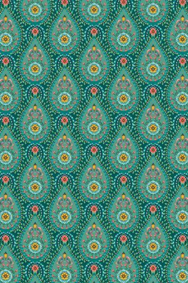 Raindrops Wallpaper Green