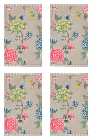 Guest Towel Set/4 Good Evening Khaki 30x50 cm