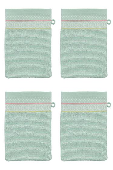 Wash Cloth Set/4 Soft Zellige Blue 16x22 cm
