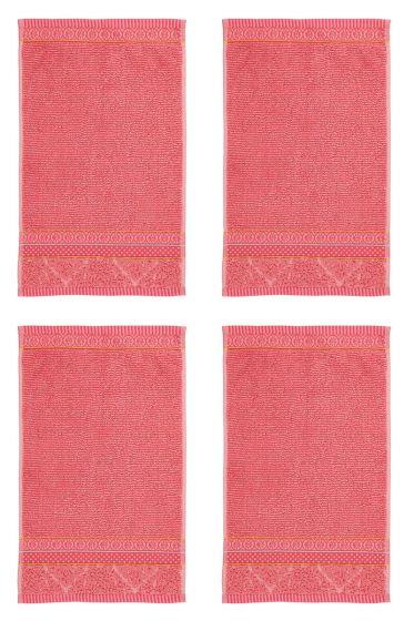 Guest Towel Set/4 Soft Zellige Coral 30x50 cm