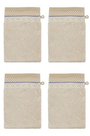 Wash Cloth Set/4 Soft Zellige Khaki 16x22 cm