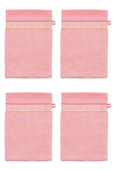Wash Cloth Set/4 Soft Zellige Pink 16x22 cm