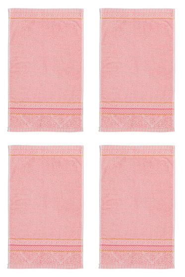 Guest Towel Set/4 Soft Zellige Pink 30x50 cm