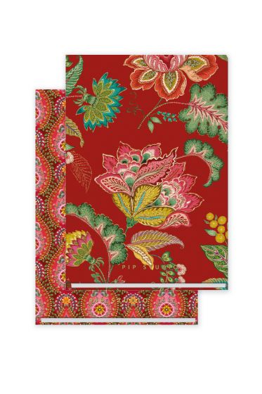 set-of-2-notebooks-a5-moon-delight-with-flower-print-red